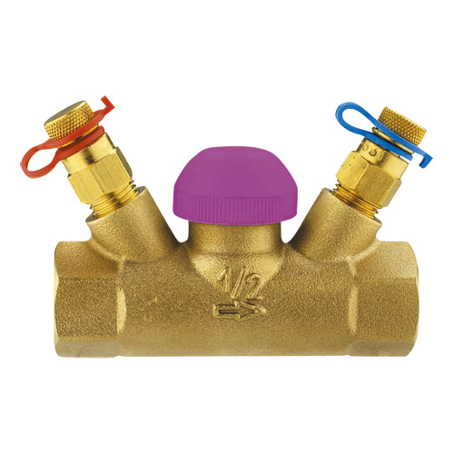 Termostatski regulacioni ventil TS-99-FV, pravi model sa mernim ventilima, unutrašnji navoj