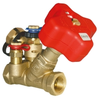 STROMAX-FODRV, Ventil za regulisanje usponskih vodova i merenje diferencijalnog pritiska, kosi model sa mernim ventilima i priključkom za inpulsnu cev
