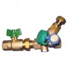 Limitator temperature u sistemima za cirkulaciju sanitarne vode sa loptastim ventilom