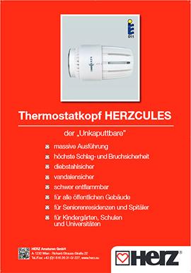 Termostatska glava <br> HERZCULES