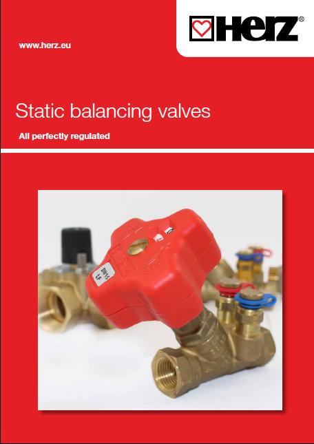 Static balancing valves