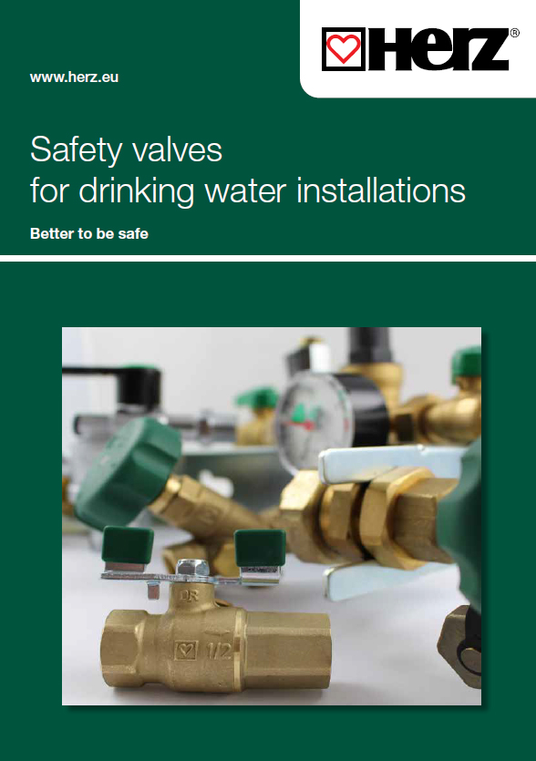 Safety valves  for drinking water installations