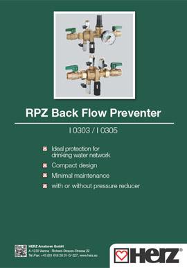 RPZ Back Flow Preventer