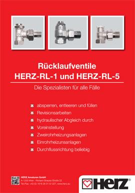 Rücklaufventile <br>RL-1 und RL-5