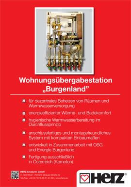 """Wohnungsübergabestation """"Burgenland"""""""